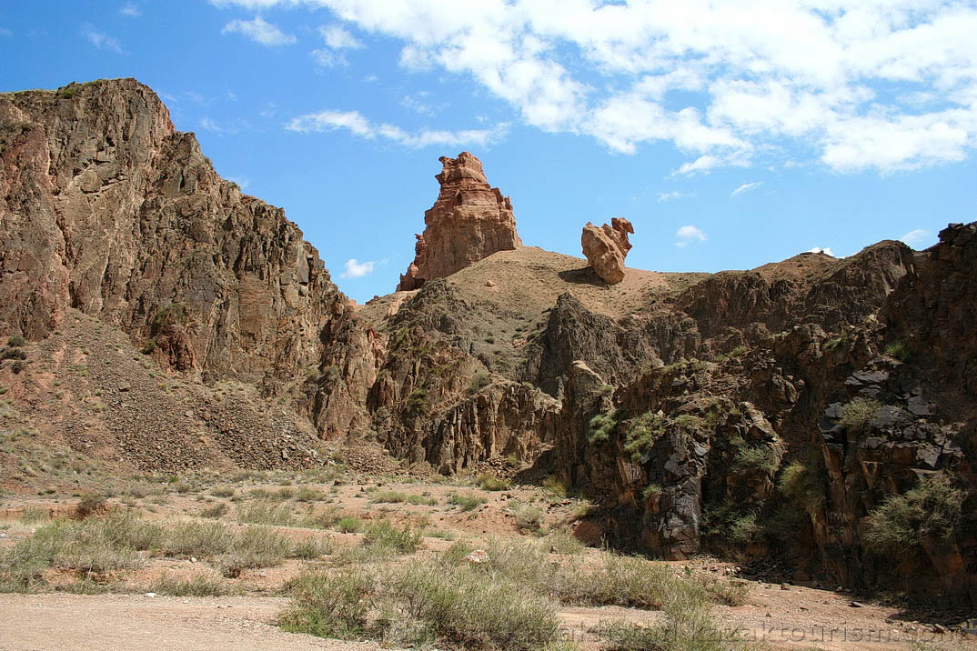 The Charyn Canyon. The Valley of Castles.