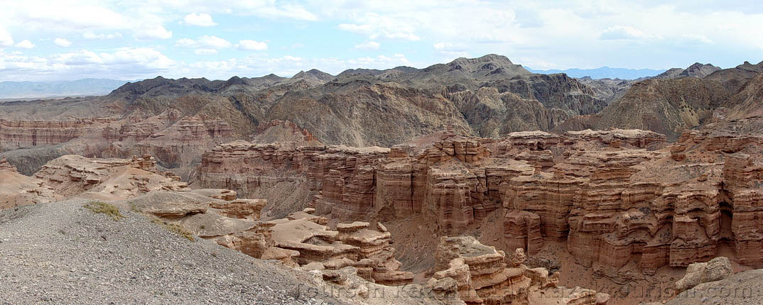 Charyn Canyon. The Valley of Castles.