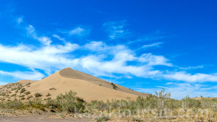 Altyn-Emel national park. The Singing Barkhan (also called Singing Sand Dunes)